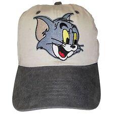 Khaki Tom & Jerry Adjustable Dad Hat Strapback Patch