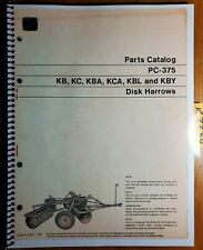 John Deere Kb Kc Kba Kca Kbl Kby Disc Harrow Parts Catalog Manual Pc-375 8/70