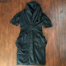 All Saints Spitalfields Elma Black Shirt Dress UK 8 / US 4