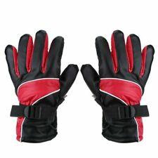 Qiilu 12V Heated Motorcycle Gloves Winter Warm Outdoor Ski Racing Waterproof W