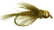 10 Bead Head Olive Caddis