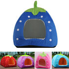 Hot Soft Strawberry Pet Dog Cat Bed House Kennel Doggy Puppy Warm Cushion Basket