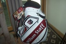 BRAND NEW 2015 Wilson Staff Pro tour cart Staff bag red / white 10 x 9 inch PGA