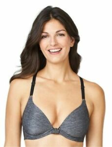 Warner's NWT Nude Gray Play It Cool Front Closure Racerback Bra RM4281A $40