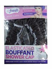 Ladies Luxury Lined Brown Elasticated Bouffant Shower Bath Cap Waterproof