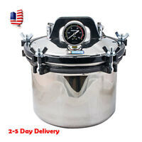 USA 8L Portable Stainless Steel Dental Pressure Steam Autoclave Sterilizer CE