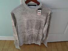 Sean John men's cotton crewneck gray sweater  L