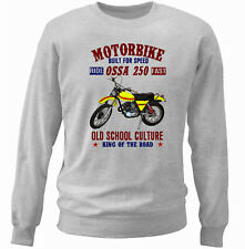VINTAGE SPANISH MOTORCYCLE OSSA 250 SUPER INSPIRED - NEW COTTON SWEATSHIRT