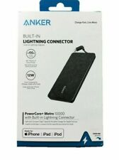 Anker Powercore+ Metro 10000 mAh Portable Charger w/ Built-in Lightning OPEN BOX