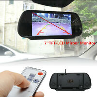 "7"" TFT LCD Color HD Mirror Monitor for Car Reverse Rear View Backup Camera"