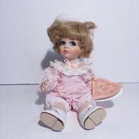 Franklin Heirloom Peanut Porcelain Doll Maryse Nicole 9 1/2 Inch
