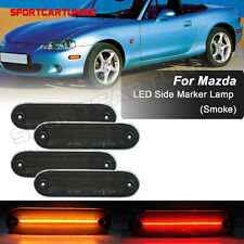 For 1990-2005 Mazda Miata MX-5 LED Front Rear Side Marker Light lamp Smoked Lens