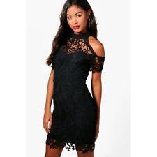 5a37e99824fff Boohoo Boutique Corded Lace Midi Dress Black Size M Lf089 FF 10