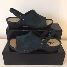 CLARKS Women's  Blue Slingback Sandals Size UK 6