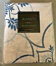 New Avanti Fabric Shower Curtain: Portico Blue and White