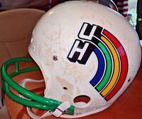 Hawaii Rainbow Warriors University Vintage 1984 Rawlings Football Helmet Medium