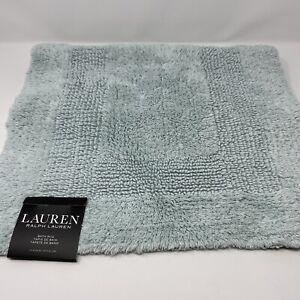 Lauren RALPH LAUREN Mint Solid Bath Rug 17x24 inches 100% Cotton