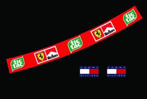 F1 Helmet Visor Sticker Schumacher TIC TAC Ferrari F1 Tommy Motorsport Karting