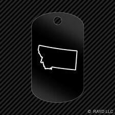 Montana Outline Keychain GI dog tag engraved many colors  MT
