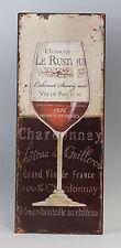 Reklameschild Blechschild Weinglas Vintage Nostalgie 9973206