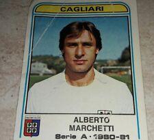 FIGURINA CALCIATORI PANINI 1980/81 CAGLIARI MARCHETTI N° 105 ALBUM 1981