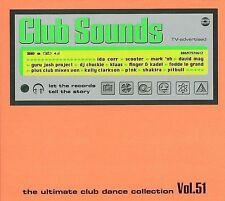 CLUB SOUNDS - Vol. 51 Neu 3 CD Magasonic Scooter Pitbull Shakira Rivendell Klaas