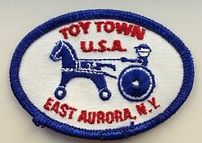 Toy Town USA Unused Patch Sew On East Aurora NY Hobby Horse Chariot