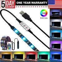12V 3M USB 5050 RGB LED Strip Lights TV Back Lamp Color Changing + Remote *USA*
