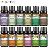 PHATOIL 10ml Pure Essential Oil 37 Natural Fragrance Oil Air Purify Aromatherapy