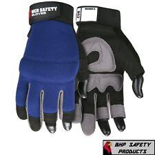 Fasguard Mechanics Synthetic Leather 3 Fingerless Design Multi Task Work Gloves