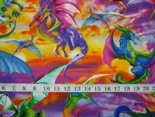 Dragons Brite Timeless Treasures Cotton Quilting Fabric 1/2 Yard