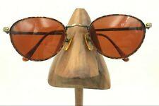 Vintage Guess Eyewear Gu89 Sunset Da/Ag Tortoise Gold Oval Sunglasses Frames