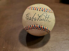 Babe Ruth / Ty Cobb Red and Blue Stitched Autographed Baseball Reprint