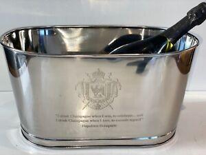 Medium size Silver Napoleon Bollinger Wine Champagne Bath Ice Bath Bucket Cooler