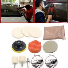 Car Window Scratch Remover Glass Polishing 8 OZ Cerium Oxide Wheel Pad Tool Kit