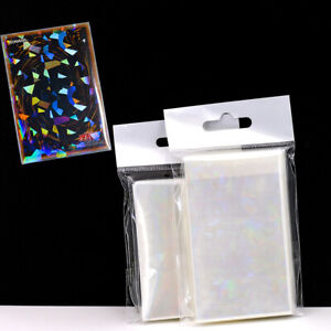 50X Laser Trading Card Sleeves Holographic Photo Sport Holder Protective DIY Acc