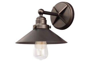 Feiss VS23401ANBZ Hooper Antique Bronze Finish One Light Wall Sconce