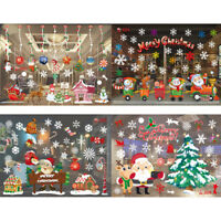 Christmas Removable Santa Claus Window Decals Home Shop Decor Xmas Stickers