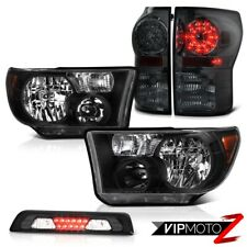 For 07-13 Toyota Tundra SR5 Headlights Smoked High Stop Light Taillights LED SMD