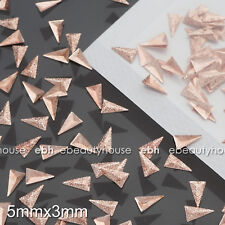 200 Pcs 5mm 3D Pyramid Matte Rose Gold Metal Nail Art Decorations #EG-235K
