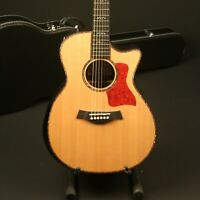 Top Quality Electric Acoustic Guitar Solid Sitka Spruce Top Real Abalone Inlay