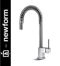 "Newform ""Forma"" 60550-21-018 Tubular Swivel + Pull-out Kitchen Sink Mixer NIB"