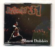 Cd PROMO ARTICOLO 31 J-Ax Senza dubbio - cds singolo single 2003 Dj Jad J Ax