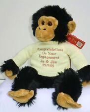 Personalised Teddy Bear Large Monkey Engagement Anniversary Birthday Chimp Gift