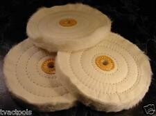 """3pc. 6 """" BUFFING POLISHING WHEELS for Bench Grinder new very Soft Bonnets"""