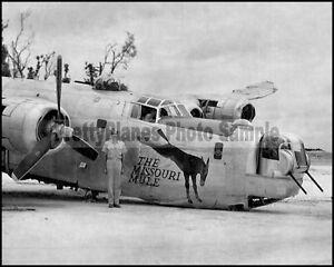WW2 B-24 Liberator Missouri Mule Nose Art 8x10 Photo