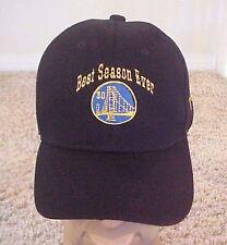 Golden State Warriors NBA Best Season Ever One Size Fits All Black Velcro Cap