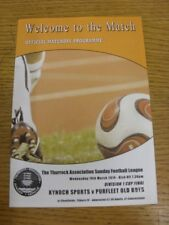 19/03/2014 Thurrock Sunday League Division 1 Cup Final: Kynoch Sports v Purfleet