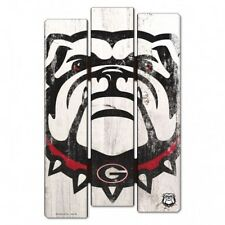 "Georgia Bulldogs Wood Fence Sign 11""x17"" [NEW] NCAA Wall Man Cave Fan Wall"