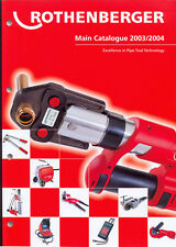 Catalogue tool Rothenberger 2003/2004 Pipe Tool Technology (319 pages)